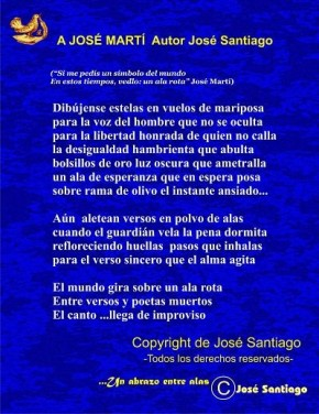 A JOSÉ MARTI autor José Santiago