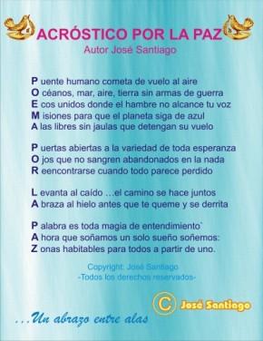 ACRÓSTICO POR LA PAZ * Autor José Santiago