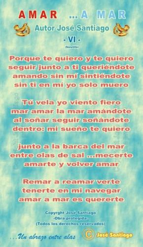 AMAR ...A MAR -VI- (Sonetillo) * Autor José Santiago