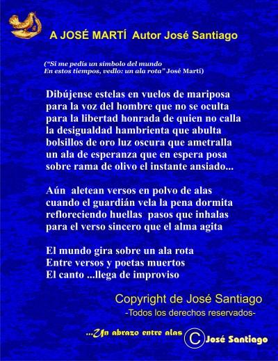A JOSÉ MARTÍ * Autor José Santiago