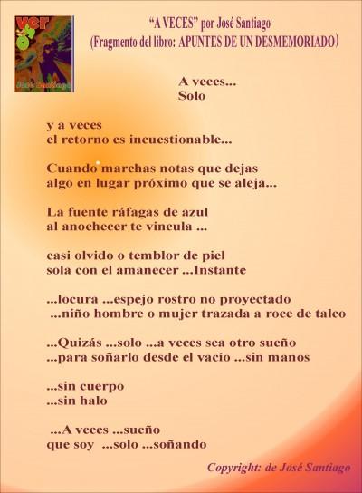 A VECES... autor José Santigo